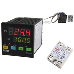Digital Pid Temperature Controller Set Ta7 snr Pt100 Solid State Relay ssr 25da