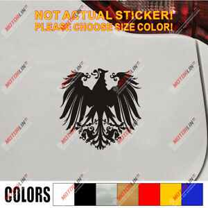German Empire Eagle Germany Decal Sticker Car Vinyl Pick Size Color Deutschland