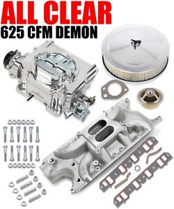 625 Cfm Street Demon Carburetor Small Block Ford Manifold Combo Vk060005 W Hat