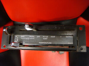 Original 1971 1972 1973 Mustang Mach1 Air Conditioning Heater Control Panel Ac