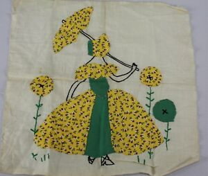 Vintage 1920s Needlecraft Embroidery Square Embroid