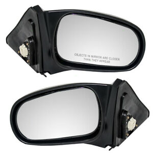Fits Honda Civic Coupe 96 97 98 99 00 Set Of Side View Power Textured Mirrors