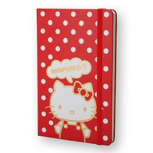 Moleskine Notebook Limited Hello Kitty Red Hard Plain Brand New Free Shipping