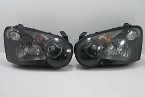 Jdm Subaru Impreza Wrx Rev8 Gdb Gda Front Black Headlights Light Lamp 2004 05 V8