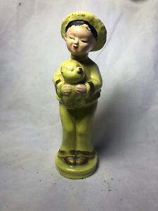 Antique Chinese Famille Rose Statue 8 Inches