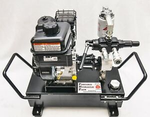 Tooltuff Gas Hydraulic Power Unit Pack Pump Station Electric Start 6 5hp 7gpm