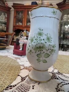 Hollohaza Hungary 7 Inch White Porcelain Vase Excellent Condition
