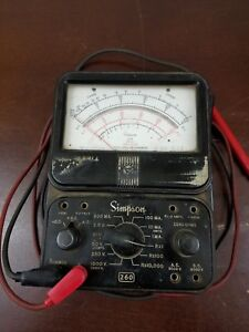 Simpson 260 Series 3 Analog Multimeter For Parts Or Repair As Is With Leads