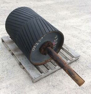 30 Drive Roller 30 Inch Conveyor Roller Rubber Lagged Head Roller 25 Dia