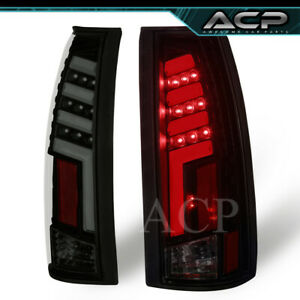 Tron Style Red Led Neon Tube Black Housing Smoke Tail Lights Lamps For 88 98 C10