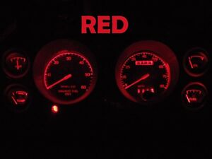 79 86 Ford Mustang Speedometer Gauge Cluster Led Dashboard Bulbs Red