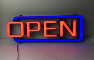 Open Sign Electric Motion Flashing Advertising Shop Window Business Light 22x8