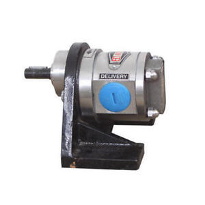 Stainless Steel Ss 316 Rotary Gear Pump 75 Lpm Hevy Duty 1 25 Dia Inlet Outlet