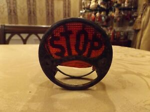 Antique Stop Lamp Light Car Auto Rat Rod Vintage Old Part Tail Glass Red Truck