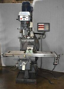 Acra Milling Machine 10 X 50 Table Anilam Dro Variable Speed Spindle