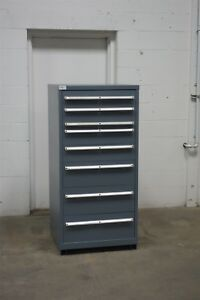 Used Lista 8 Drawer Cabinet Industrial Tool Parts Storage 732 Vidmar Nice