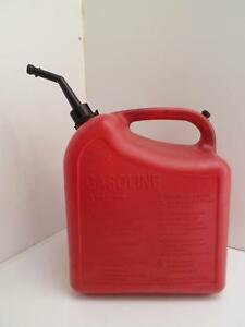Chilton Gas Can 5 25 Us Gallons 5 1 4 Gasoline Model 42234 Plastic Spout Red