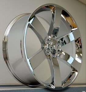 4 24 Ss Rims Wheels Chrome Silverado 1500 Sierra Tahoe Escalade Denali Gmc