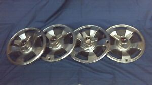 Set Of 4 1966 Original Chevrolet Corvette Knock Out Hub Caps Wheel Covers Sh