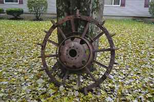 4 Antique Steam Engine Tractor Wheel Rim Tire Set Front Rear