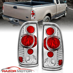 1997 2003 Chrome Tail Lights Pair For Ford F150 1999 2007 F250 F350 Superduty