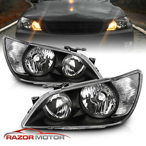 2001 2005 Factory Black Headlight Assembly Pair For Lexus Is300 Left Right