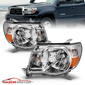 2005 2011 Replacement Chrome Headlight Pair For Toyota Tacoma Trd Style