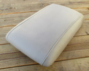 Ford Expedition Front Center Console Arm Rest Lid Top Cover Tan Leather 03 06