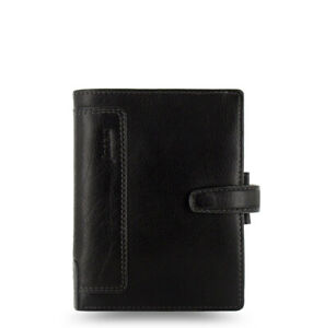 2019 Filofax Pocket Size Holborn Organiser Planner Diary Leather Black 025115