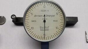 Brown Sharpe Bestest No 7031 1 Last Word Style Dial Indicator 0005 Grad