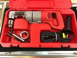 Milwaukee 7 Amp 1 2 In Corded Heavy Right angle Drill Kit 3107 6