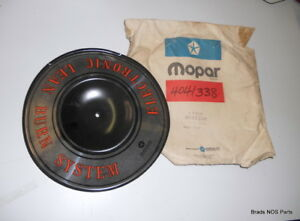 Nos Mopar 1976 1978 Plymouth Dodge Engine Air Cleaner Nameplate Piepan 4041338