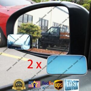 2pcs Blue Blind Spot Mirror Wide Angle Rear View Car Side Mirror For Nissan