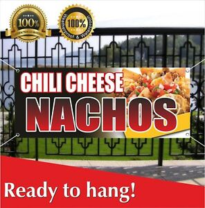 Chili Cheese Nachos Banner Vinyl Mesh Banner Sign Many Sizes Flag Mexican Food
