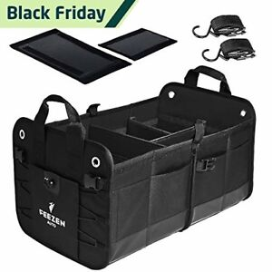 Feezen Car Trunk Organizer Best For Suv Vehicle Truck Auto Minivan Home H