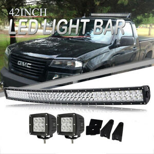 Curved 42 Led Light Bar Spot Flood For Chevy Colorado canyon 04 12 W wiring