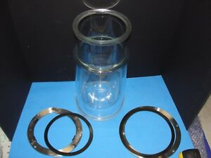 Jacketed Bio Reactor 4l 5l 6l New Brunswick Fermenter With Ss Rings