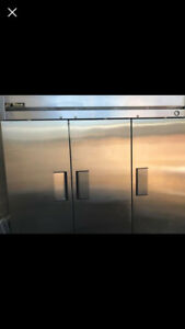 True T 72 Gdm Stainless 3 Door Commercial Refrigerator Cooler Used