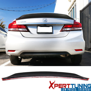 Fits 13 15 Honda Civic Sedan Ikon Duckbill V2 Style Trunk Spoiler Unpainted