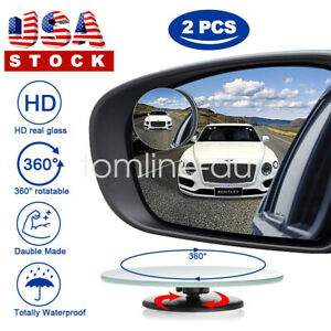 360 Adjustable Blind Spot Mirror Car Trunk Spot Side Mirror Mini 2 Pack