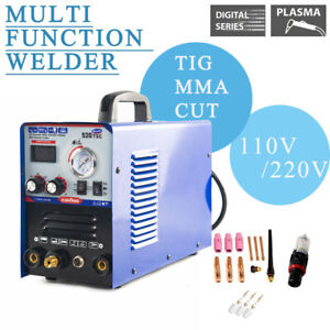 520tsc Plasma Cutter Tig mma Welder 3in1 Welding Machine 110v 220v Foot Pedal
