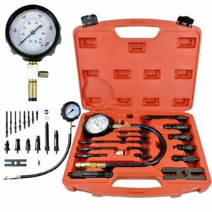Tu 15b 16pcs Diesel Engine Compression Tester Test Set Kit For Auto Tractor Semi