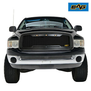 Eag Replacement Grille Led Upper Mesh Grill For 02 05 Dodge Ram 1500 2500 3500