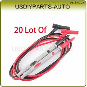 20pcs High Quality Universal Probe Test Leads Pin For Digital Multimeter Meter