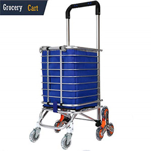 Grocery Cart With Wheels Stair Climbing Carts Foldable Rolling Shopping Cart