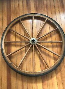 Antique 36 Amish Style Carriage Wood Rubber Buggy Wagon Wheel Bareville Pa