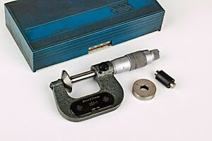 brown Sharpe Flange Disc Micrometer 223 1 W Box