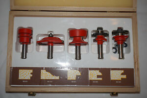 Freud Cabinet Router Bit Set 94 100 Made In Italy
