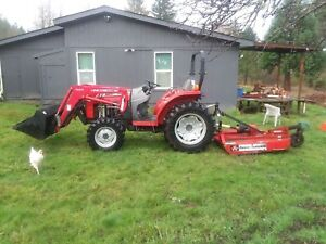 Massey Ferguson 1533 4x4 Tractor Loader Brush Hog Harrow Rake Rototiller 33hp