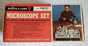 Vintage Bausch Lomb R1900 Microscope Set New In Box 1960s Rare Vintage